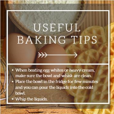 Baking tips 2